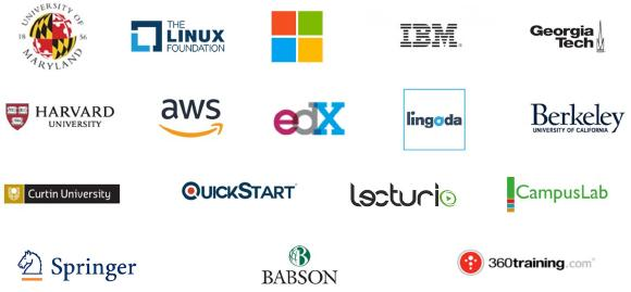 Auszug Anbieter e-Learning @ Treasurize