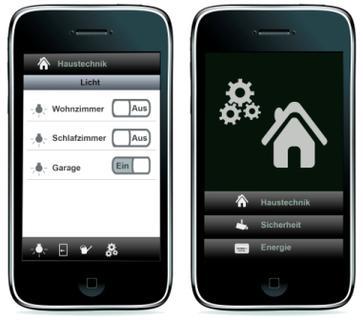 m2m BLE Smart Home per iPhone Applikation (Webgröße)