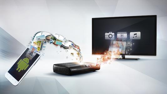 VideoWeb TV-Anwender koennen damit jetzt erstmals von ihrem Android Smartphone aus die aufgenommenen Fotos, Filme und ihre Musik einfach auf Knopfdruck direkt und kabellos per WLAN auf den HD-TV schicken.