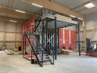 AutoStore-System von Leslii in der Bauphase