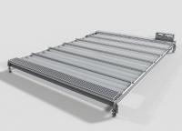 Die X-Velo-Dachabdeckung schützt die Produktionsumgebung wirksam vor Verschmutzungen. Sie lässt sich einfach an die Anwendung anpassen und ist lichtdurchlässig