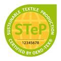 STeP (Sustainable Textile Production) by OEKO-TEX® ist ein unabhängiges Zertifizierungssystem, mit dem Marken, Handelsunternehmen und Hersteller der textilen Kette ihre Leistungen in Bezug auf nachhaltige Produktionsbedingungen anschaulich und transparent belegen und kommunizieren können. Die Zertifizierung ist für Produktionsbetriebe aller Verarbeitungsstufen von der Faserherstellung über die Spinnerei und Weberei/Strickerei bis hin zu Veredlungsbetrieben und Konfektionären möglich. © OEKO-TEX®