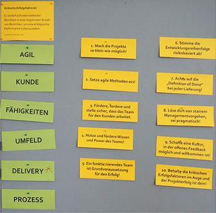 Kritische Erfolgsfaktoren für agile Projekte, 10 Tipps und Tricks zur Erfolgssteigerung von agilen Projekten