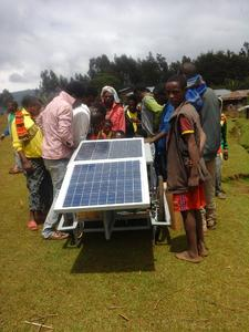 Solarbetriebener Friseursalon