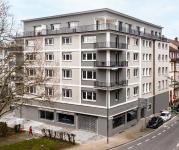 Pfälzer Vorzeigeobjekt: Vorbildlich mit Caparol-Produkten renoviert wurde das Gebäude Rudolf-Breitscheid-Straße 83 in Kaiserslautern