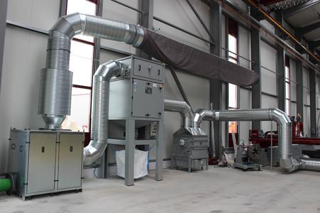 Die Absaug- und Filteranlage ZPF nimmt die schadstoffhaltige Luft auf und reinigt sie.