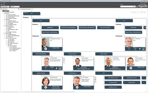 Org chart in Ingentis org.manager