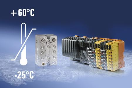 Able to withstand extreme temperatures: Both the X20 modules and the X67 modules from B&R function reliably at temperatures ranging from -25 to +60°C.