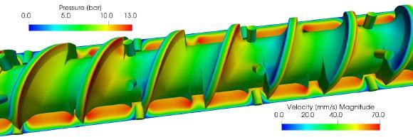 Simulationen können helfen, das viskoelastische Materialverhalten von Kautschukschmelzen zu verstehen und so die Prozessauslegung zu verbessern
