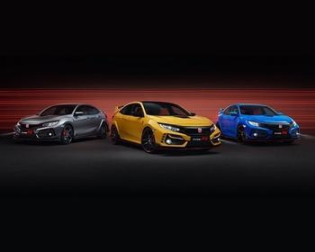Sport Line, Limited Edition und GT (v. l. n. r.): der Civic Type R 2020