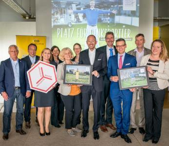Projektauftakt in den hl-studios mit der Leitungsriege der Metropolregion und ihren Foren / Foto:hl-studios, Erlangen