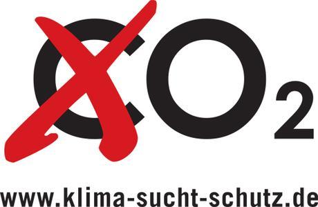 """Logo der Kampagne:  """"Klima sucht Schutz"""""""