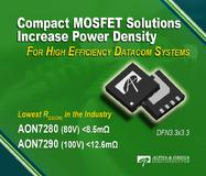 New AOS 80V and 100V MOSFETs - Industry's Lowest On-Resistance in a DFN3.3x3.3 Package