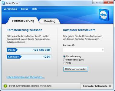 Screenshot TeamViewer (www.teamviewer.com)