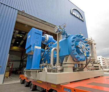 Impressionen aus dem Turbomaschinenbau: HOFIM-Kompressor (High Speed Oil Free Integrated Motor), Foto: MAN Diesel & Turbo Schweiz AG