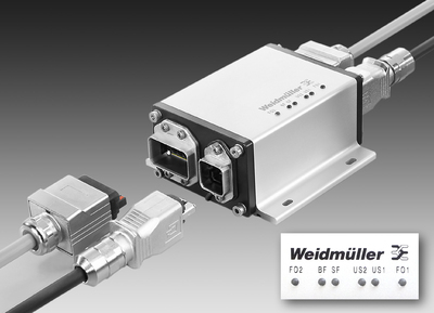 Weidmüller's 'FreeCon Active Repeater': PROFINET POF Repeater for diagnosing light signals