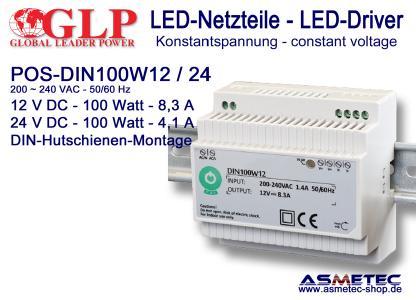 GLP LED-Netzteil POS DIN 100 Watt
