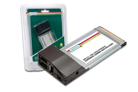USB 2.0/IEEE 1394a Interface Cardbus Combo-Card, DS-32230