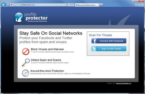 Screenshot zum Profile Protector