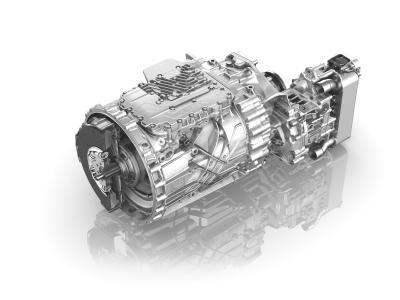"""Das Getriebesystem TraXon sorgt für Effizienz in der Nutzfahrzeugbranche. Die integrierte Zusatzbremse """"Intarder"""" verringert den Verschleiß der Betriebsbremse und erhöht die Sicherheit"""