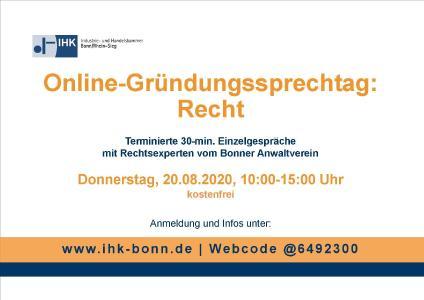 Plakat Gründungssprechtag Recht