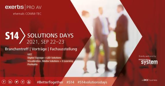 S14 Solutions Days vom 22. – 23.09.2021 bei Exertis Pro AV
