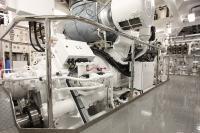 Schiffsgetriebe: Die tonnenschweren, stählernen Gehäuseteile werden bisher gegossen. In Zukunft sollen sie mit einem riesigen 3D-Drucker hergestellt werden. (Quelle: REINTJES GmbH)