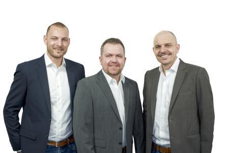 Das DICOTA-Management: Stephan Meyer, Michael Mühlenbruch und Ruedi Nauer (von links)