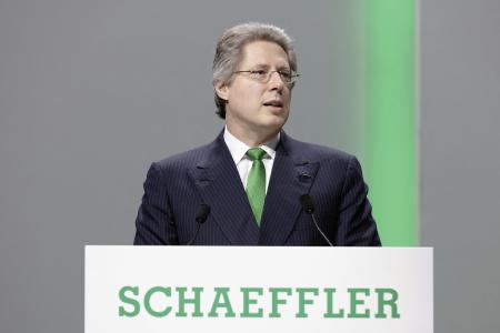Aufsichtsratsvorsitzender Georg F. W. Schaeffler auf der Hauptversammlung der Schaeffler AG 2018. Foto: Schaeffler
