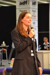 Patricia Kastner CEO Contentserv gave a presentation in hall 7