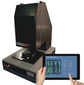 KORAD3Dplus – integrierter x/y-Tisch, bis zu 100 mm Scan Range, ingetrierte Evaluationssoftware, Touch-Bedienfeld, Stitching Technologie, anpassbares Sichtfeld
