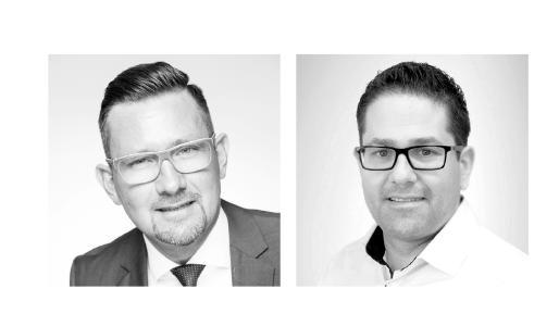Steven Wernike (links), GF der Centric IT Solutions GmbH Fabian Klose, GF der Steltix Deutschland GmbH