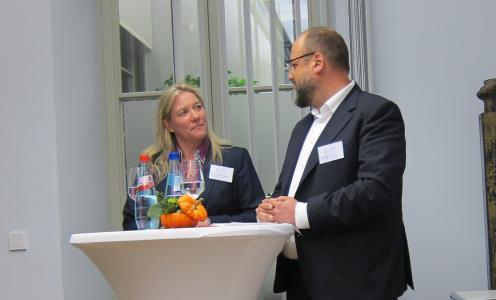 Frau Walters und Ralf Hager
