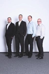 Das Forschungsteam um Michael Herfert hat für OmniCloud einen 1. Platz beim Deutschen IT-Sicherheitspreis verliehen bekommen (v.l.): Thomas Kunz, Michael Herfert, René Palige, Ruben Wolf / Foto © Fraunhofer SIT