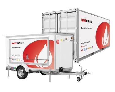 Mobile Heizzentralen überbrücken ausgefallene Heizungen und stellen die Warmwasserversorgung sicher. Bild: Hotmobil Deutschland GmbH