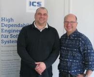 Michael Kirsch und Martin Zappe freuen sich über die erfolgreich abgelegte Zertifizierung