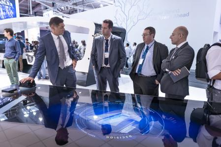 Visitors benefited from informative multimedia presentations illustrating Knorr-Bremse's strategy and solutions for the industry megatrends   © Knorr-Bremse
