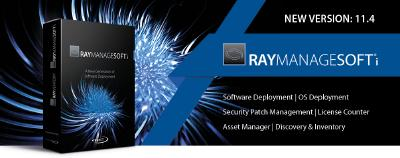 Raynet's software deployment solution RayManageSofti has been officially released in version 11.4