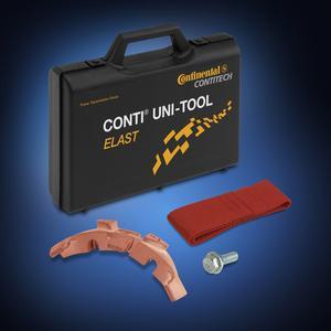 Mit dem Universalwerkzeug CONTI® UNI-TOOL ELAST von ContiTech können Kfz-Mechaniker elastische Keilrippenriemen einfach und sicher wechseln