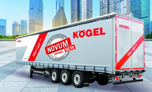 New NOVUM trailer generation showing Kögel Lightplus as an example