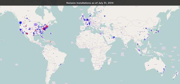 Übersicht über die Nutanix Installationen (Stand Juli 2014)