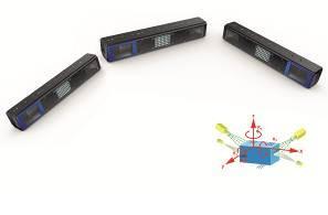 Für besonders komplexe Aufgaben lassen sich mehrere Sensoren zu dem Multi-Sensorverbund CONact SHAPEMATCH3D zusammenfassen