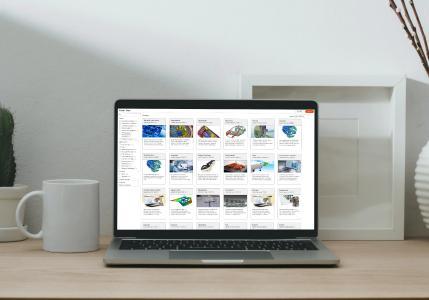 Greifen Sie auf eine breite Palette von Anwendungen in Altair One zu und starten Sie diese in der Cloud oder laden Sie sie auf den Desktop herunter.
