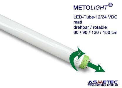 METOLIGHT LED Röhre 12/24 Volt mit drehbarem Sockel