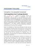[PDF] Pressemitteilung: TechnologieAllianz feiert 15-jähriges Bestehen