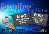 IDT Introduces World's First Piezoelectric MEMS Oscillators for High-performance Applications