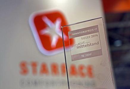 Ausgezeichnet: Im Rahmen der CeBIT 2014 wurde STARFACE mit dem von der Initiative Mittelstand ausgeschriebenen INNOVATIONSPREIS-IT in der Kategorie Telekommunikation/VoIP geehrt