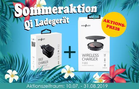 miniBatt Wireless Charger Fi80 & Fast USB Charger Paket