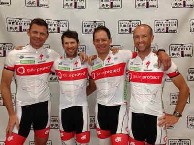 """4Athletes powered by gateprotect"" are the surprising winners of the Race Across America (RAAM) 2013"