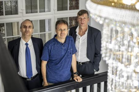 Lavinio Cerquetti, Janko Nebel und Uwe Bauch (Geschäftsführung der community4you AG)